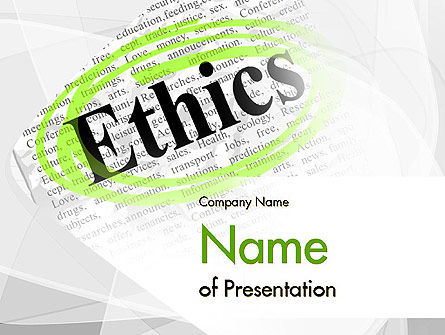 Business Concepts: Code of Ethics PowerPoint Template #11713