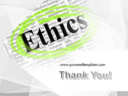 Code of Ethics PowerPoint Template Slide 20