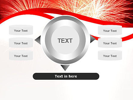 Bright Fireworks PowerPoint Template Slide 12