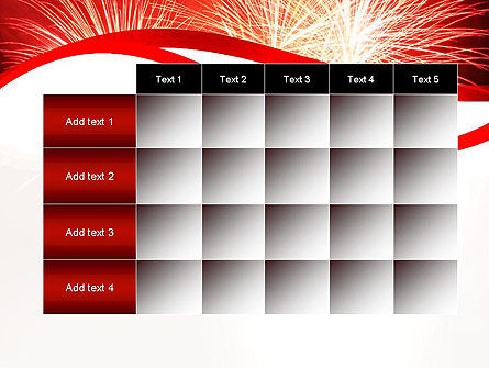 Bright Fireworks PowerPoint Template Slide 15