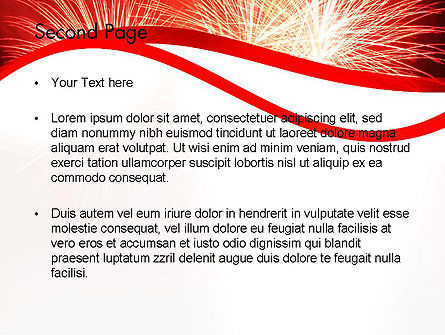 Bright Fireworks PowerPoint Template Slide 2