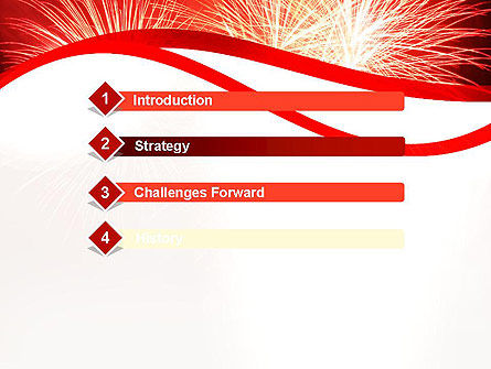 Bright Fireworks PowerPoint Template, Slide 3, 11715, Holiday/Special Occasion — PoweredTemplate.com