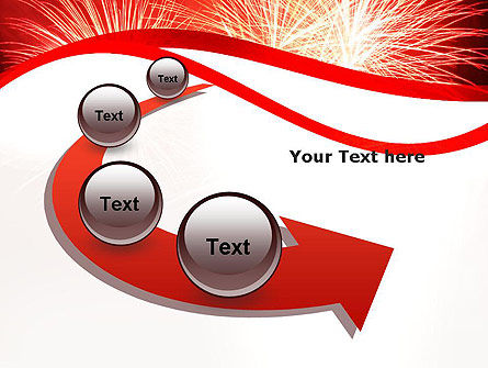 Bright Fireworks PowerPoint Template Slide 6