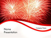 Holiday/Special Occasion: Bright Fireworks PowerPoint Template #11715
