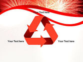 Bright Fireworks PowerPoint Template#10