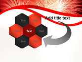 Bright Fireworks PowerPoint Template#11