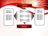 Bright Fireworks PowerPoint Template#13