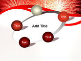 Bright Fireworks PowerPoint Template#14