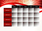 Bright Fireworks PowerPoint Template#15