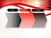 Bright Fireworks PowerPoint Template#16