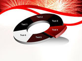 Bright Fireworks PowerPoint Template#19