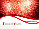 Bright Fireworks PowerPoint Template#20