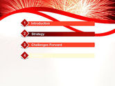 Bright Fireworks PowerPoint Template#3