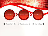 Bright Fireworks PowerPoint Template#5