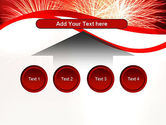 Bright Fireworks PowerPoint Template#8