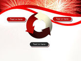 Bright Fireworks PowerPoint Template#9