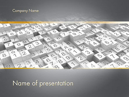 Numbered Cubes PowerPoint Template