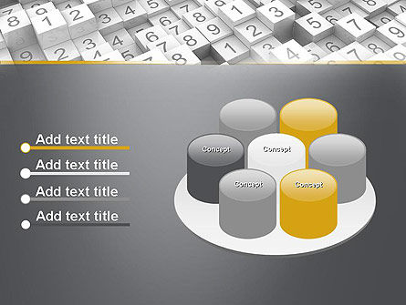 Numbered Cubes PowerPoint Template Slide 12