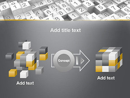 Numbered Cubes PowerPoint Template Slide 17