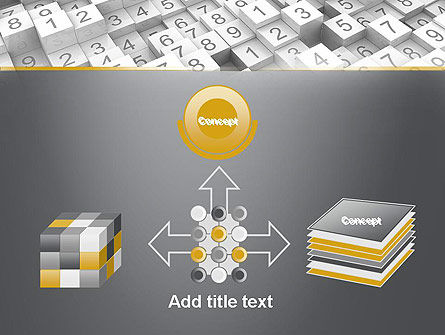 Numbered Cubes PowerPoint Template Slide 19