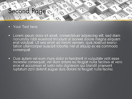 Numbered Cubes PowerPoint Template Slide 2