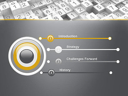 Numbered Cubes PowerPoint Template Slide 3