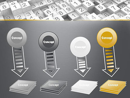 Numbered Cubes PowerPoint Template Slide 8