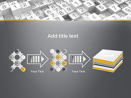 Numbered Cubes PowerPoint Template Slide 9