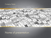 Abstract/Textures: Numbered Cubes PowerPoint Template #11716
