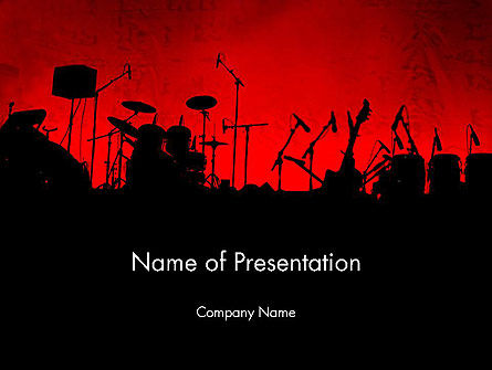 Art & Entertainment: Rock Concert PowerPoint Template #11718