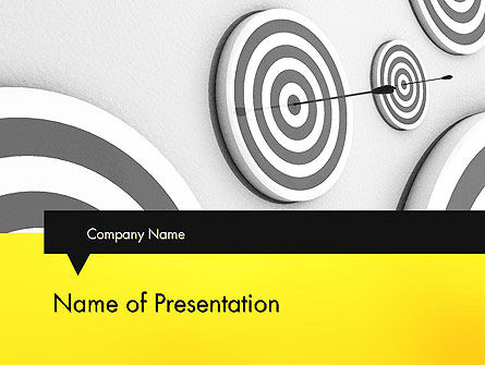 Hit the Bull's Eye PowerPoint Template, 11720, Business Concepts — PoweredTemplate.com