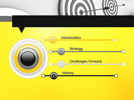Hit the Bull's Eye PowerPoint Template, Slide 3, 11720, Business Concepts — PoweredTemplate.com