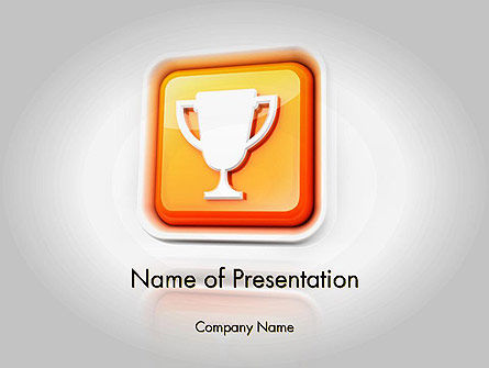 Sports: Winner Cup Icon PowerPoint Template #11722