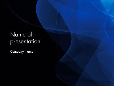 Black and Blue Abstract PowerPoint Template, 11725, Abstract/Textures — PoweredTemplate.com