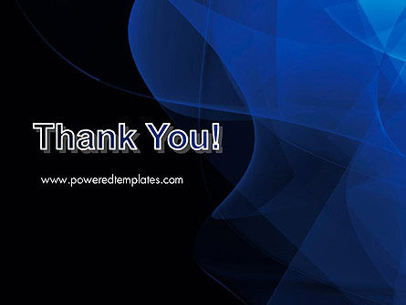 Black and Blue Abstract PowerPoint Template Slide 20