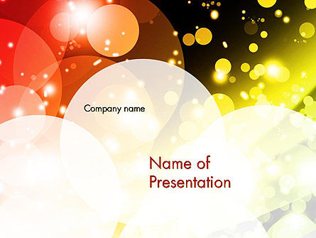 Sparkle Background PowerPoint Template, 11726, Abstract/Textures — PoweredTemplate.com