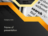 Education & Training: Search Concept PowerPoint Template #11728