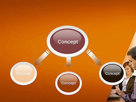 Business People Having Conversation PowerPoint Template, Slide 4, 11729, Consulting — PoweredTemplate.com