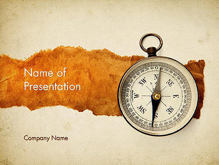 Compass on Parchment PowerPoint Template