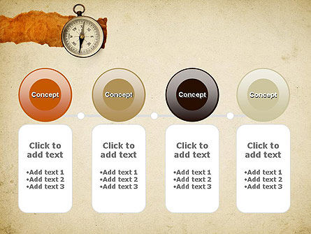 Compass on Parchment PowerPoint Template Slide 5