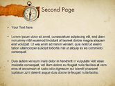 Compass on Parchment PowerPoint Template#2