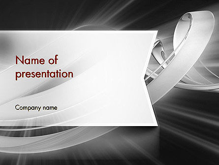 Abstract Gray Banner PowerPoint Template