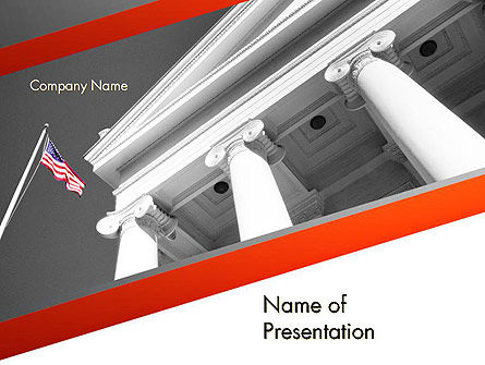Legal: Court Building PowerPoint Template #11735
