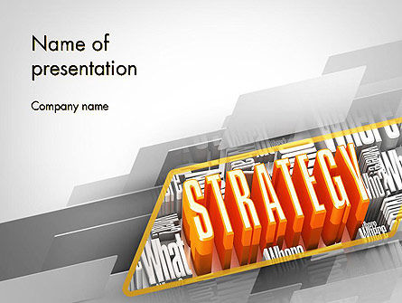 Business: Strategy Theme PowerPoint Template #11736