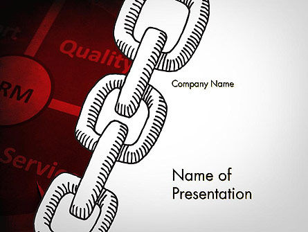 CRM Chain PowerPoint Template