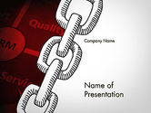 Careers/Industry: CRM Chain PowerPoint Template #11737