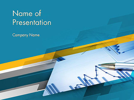 Line Chart Theme PowerPoint Template