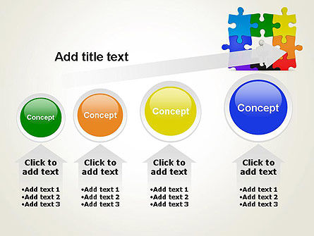 Stickman Sitting on Puzzle PowerPoint Template Slide 13