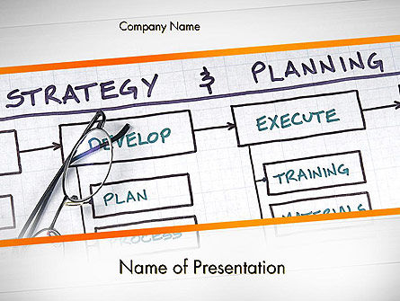 Strategy and Planning Flowchart Theme PowerPoint Template, 11742, Business — PoweredTemplate.com