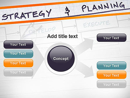 Strategy and Planning Flowchart Theme PowerPoint Template Slide 14